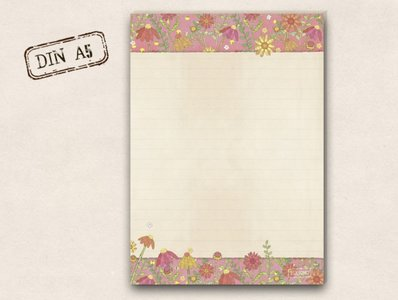 A5 Letter Paper Pad TikiOno | Summer Meadow