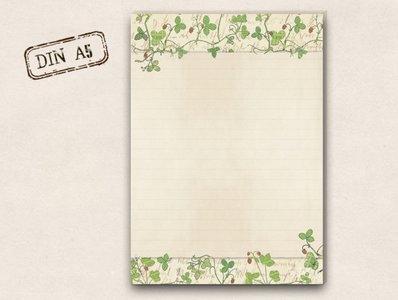 A5 Letter Paper Pad TikiOno   Wild strawberries