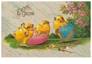 Victorian Postcard | A.N.B. - Easter greetings