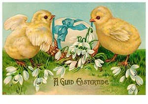 Victorian Postcard | A.N.B. - A glad eastertide