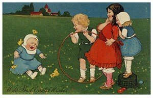 Victorian Postcard | A.N.B. - With best easter wishes