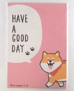 Letter Paper Mix   Shiba Inu dog