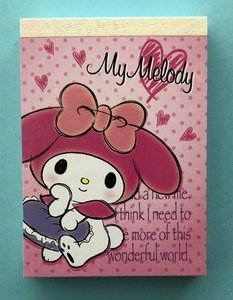 Sanrio Mini Memo Pad | My Melody
