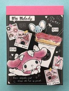 Sanrio Kawaii Mini Memo Pad | My Melody Sweets
