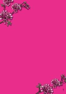 A5 Letter Paper Pad Illi   Pink Sakura