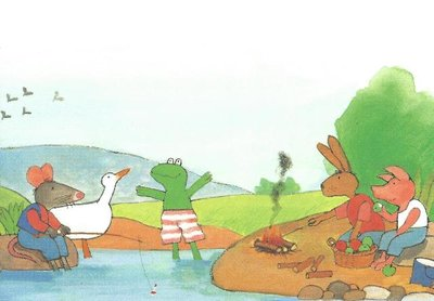 Kikker Postcards   Kikker en zijn vriendjes - Max Velthuijs