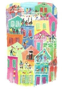 Gallery Cards Postcard | Marit Törnqvist - Eiland van altijd feest