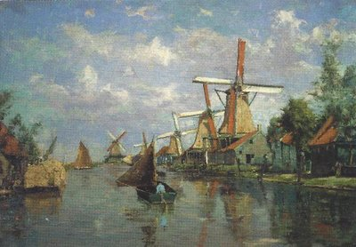 Museum Cards Postcard | La Zaan-Hollande, molens aan de Noorder Valdeursloot