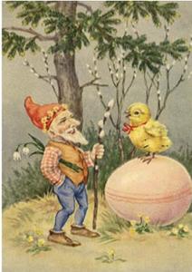 Postcard | Vintage Gnome Easter