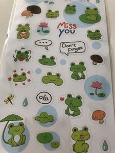 Clear seal sticker Frog