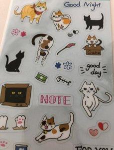 Clear seal sticker Cat