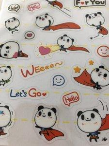 Clear seal sticker Super Panda