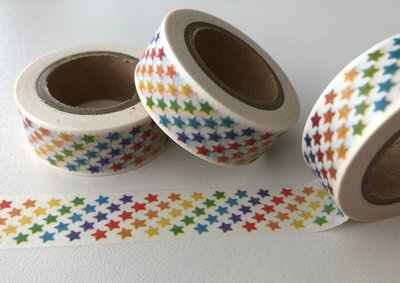 Washi Masking Tape | 5 rows of Little Rainbow Stars
