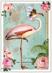 Postcard Edition Tausendschoen | Flamingo