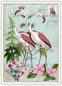 Postcard Edition Tausendschoen | Flamingos
