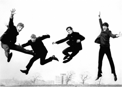 Postcard | The Beatles - Jumping