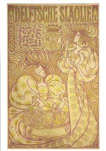Museum Cards Postcard | Affiche Delftsche slaolie ontwerp 1894