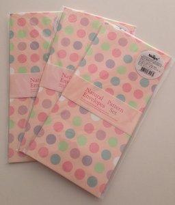 Natural Pattern Envelopes (Dots on Salmon Pink)