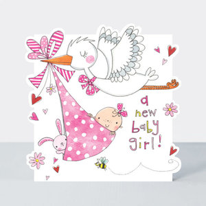 Rachel Ellen Designs Cloud Cuckoo Land - New Baby Girl Stork