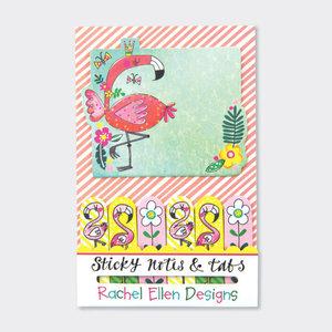 Rachel Ellen Designs Sticky Notes & Tabs - Flamingo
