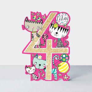 Rachel Ellen Designs Cards - Little Darlings - Age 4 Girl/Cats