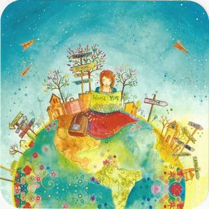 Jehanne Weyman Postcard | World Map