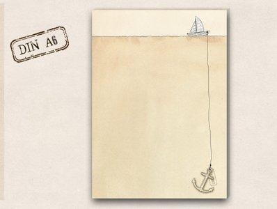 Notizblock TikiOno   Kleines Boot