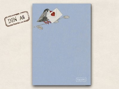 Memopad TikiOno | Love Message (Blue)