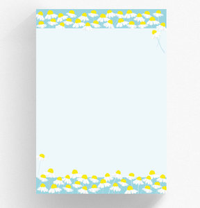 A4 Letter Paper Pad crissXcross | Chamomile