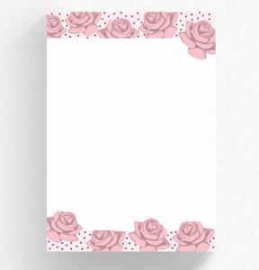 A4 Briefpapierblok crissXcross | Rozen