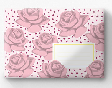 Envelope Set C6 - Roses (crissXcross)