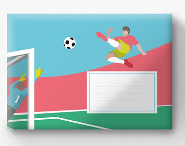 Envelope Set C6 - Soccer (crissXcross)