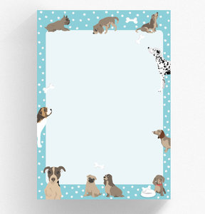 A5 Letter Paper Pad crissXcross | Dogs