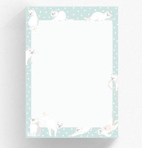 A5 Letter Paper Pad crissXcross | Cats