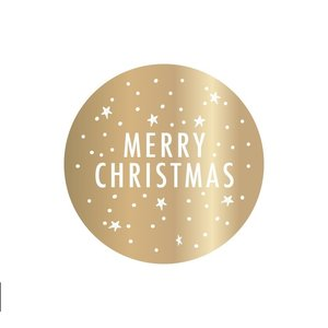 X-mas Stickers - Gold - Merry Christmas
