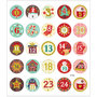 Seal Sticker with Gold Foil | Calender numbers