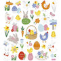 Seal Sticker with Silver Foil   Easter Mix