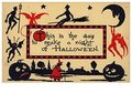 Victorian Halloween Postcard | A.N.B. - This is the day to make a night of halloween