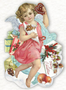 Shaped Postcard Edition Tausendschoen Specials | Christmas Angel WITH ENVELOPE