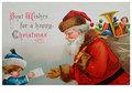 Postcard | Kerstman neemt een verlanglijstje in ontvangst