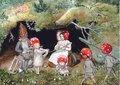 """Elsa Beskow Postcard """"Tomtebobarnen"""""""