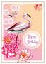 Postcard Edition Tausendschoen | Happy Birthday Flamingo