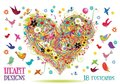 Tushita Postcard Book | Heart Designs