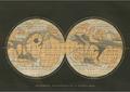 Postcard | Mappemonde Geographique de la Planete Mars, Terres du Ciel