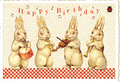 Postcard Edition Tausendschoen | Happy Birthday Bunnies