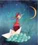 L'Atelier de Papier Aquarupella Postcard | Moon
