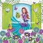 Cartita Design Postcard | Woman is pouring flowers