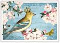 Postcard Edition Tausendschoen | Goldkehlchen