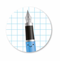 5 Stickers | Fountain Pen Blue