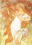 Postcard Tushita Fine Arts   Alphonse Mucha - Spring, 1896